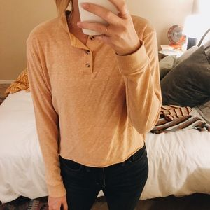 Urban Outfitters Long Sleeve Crop Tee